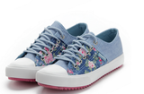 Clemonte Floral Light Blue denim sneakers sports shoes for women