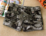 Clemonte Camouflage military army style hot pants / shorts for women