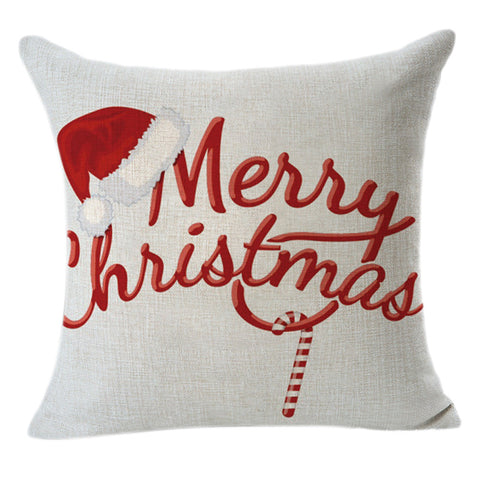 Christmas cushion cover - home decoration - Santa cap