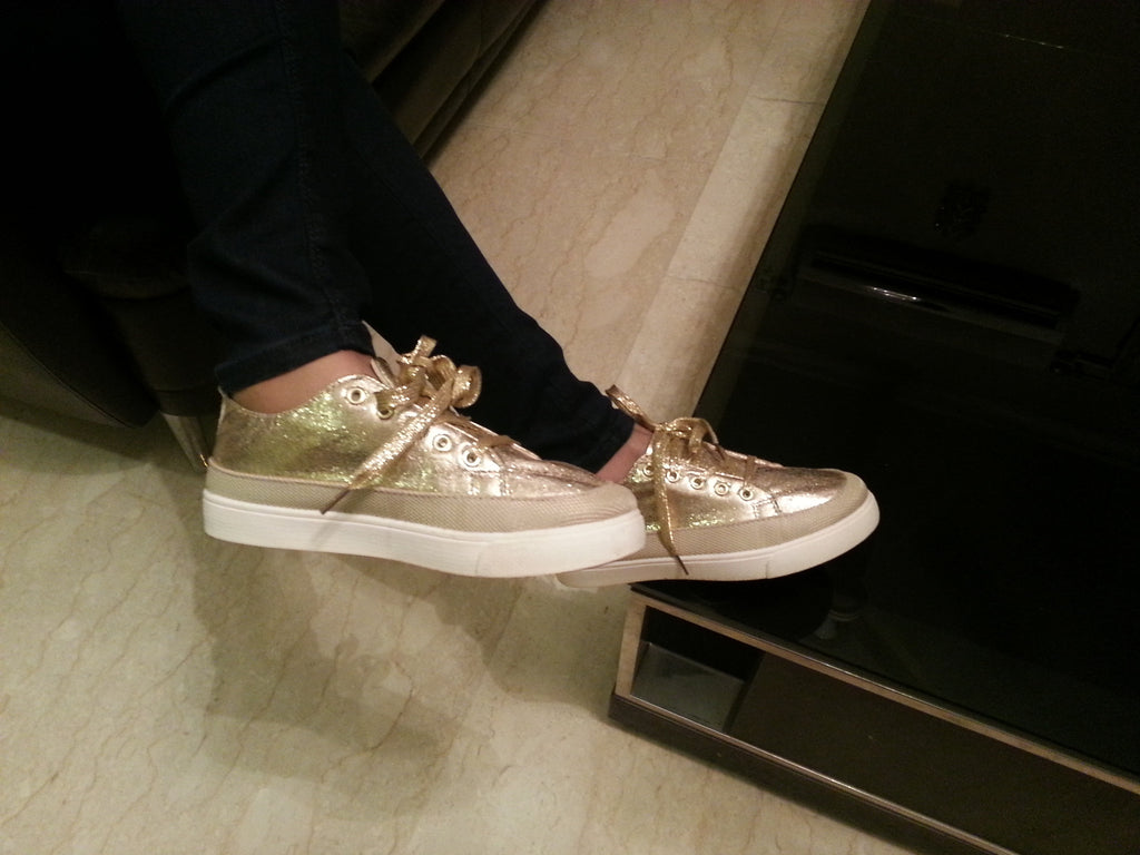 Clemonte Gold flat sneakers