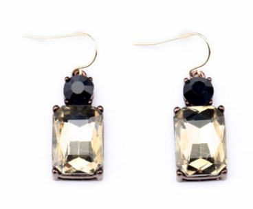 Clemonte square crystal drop earrings