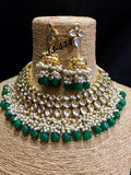 Vivaah wedding bridal jewellery set in emerald green
