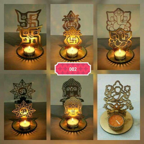 Diwali home decor - Designer metal tealight candle holder