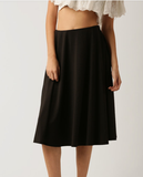 Clemonte black flared midi skirt