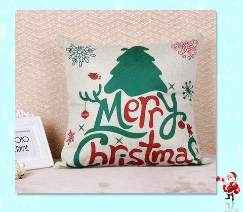 Christmas cushion cover - home decoration - xmas tree