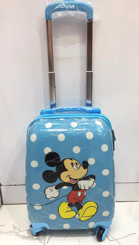 Disney Mickey mouse polka dot trolley luggage for kids