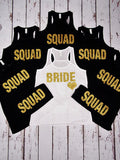 BeCivil Squad Glitter - Bridal party tank tops