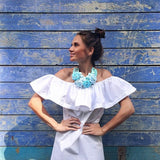 Clemonte Meisha collection - Off shoulder white ruffle dress