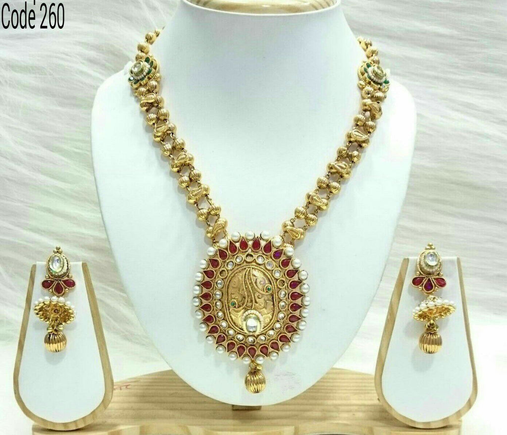 Antique Gold temple jewellery set