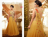 Nihar Glamorous cocktail evening gown for ladies : Mustard pink