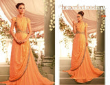 Nihar Glamorous cocktail evening gown for ladies : Peach