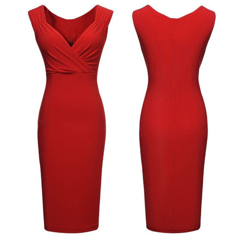 Valentine's Special : Clemonte sweetheart red bodycon dress