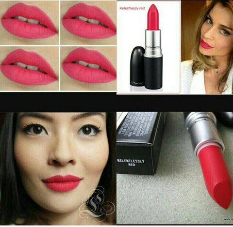 Relentlessly red mac lipstick lip gloss shade for women