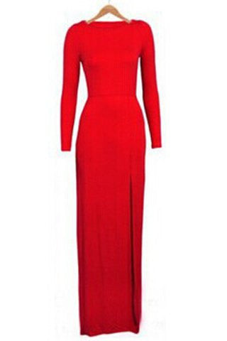 Clemonte Full sleeve red valentine dress