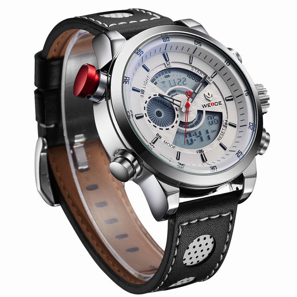 Wrist watches brands for mens - Weide New Men Fashion Wristwatches Luxury Famous Brand Men S Leather Strap Watch Sports Watches With High Quality Waterproof