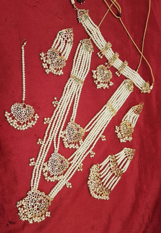 Heavy Pearl wedding bridal jewellery set