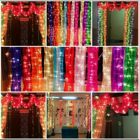 Diwali home decor - Light Curtains