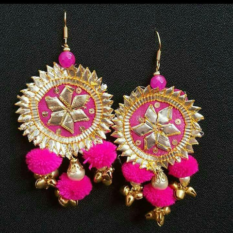 Crafts Hub Pink gota earrings
