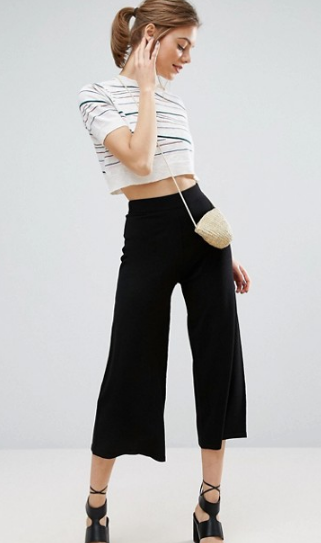 Clemonte black knitted Culotte