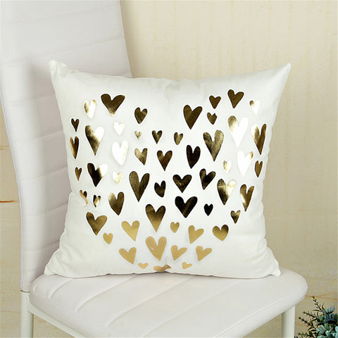 Christmas cushion cover - home decoration - Bling hearts