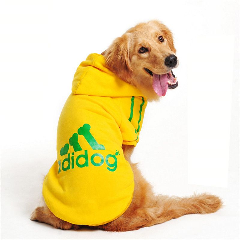 Adidog Large Pet Dog  Hoodie  for  Large size Dogs- Golden Retriever / German shepherd/Labrador 3-9XL