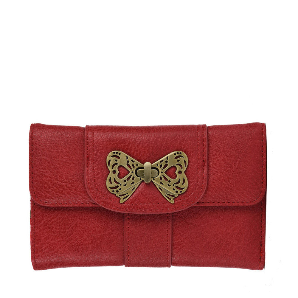 Clemonte Floral multicolor wallet with butterfly clasp