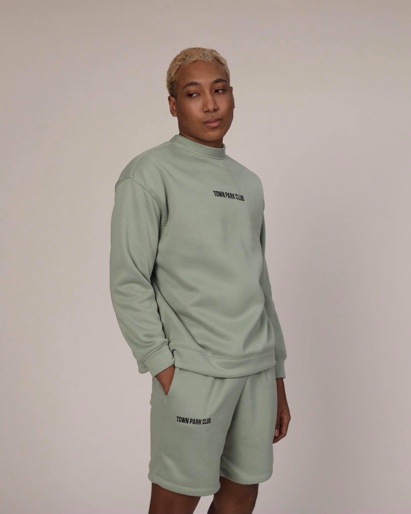 Club Sweater (Mint) by Town Park Club