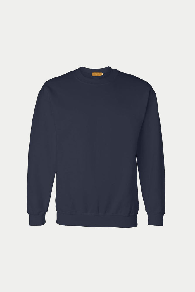 PLAIN CREW NECK SWEATER (Navy Blue) (3730892456013)