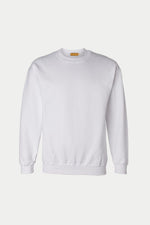 PLAIN CREW NECK SWEATER (White)