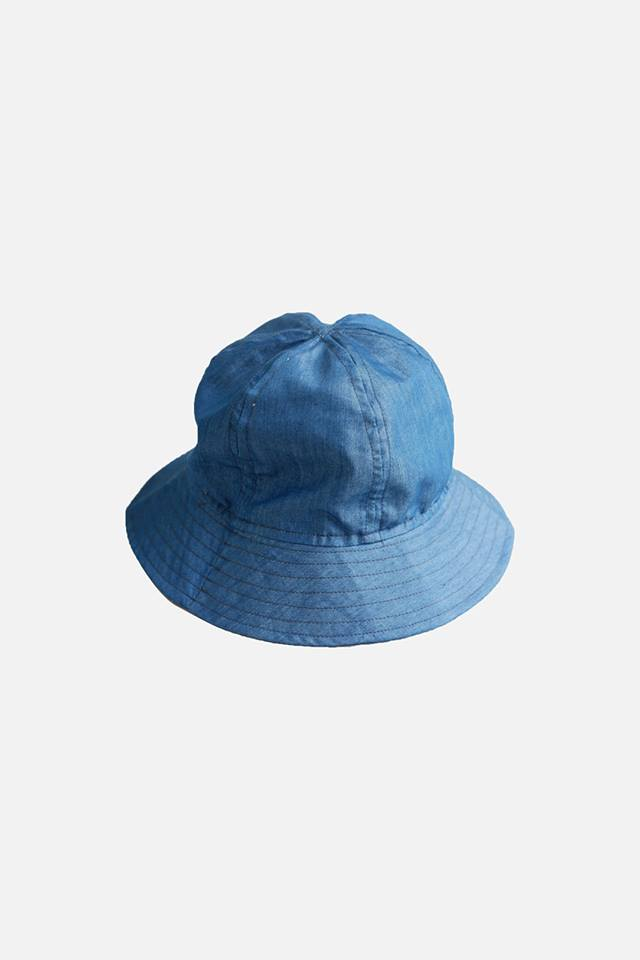 HOVERMEN - 6 panel Chambray Bucket Hat (Medium Denim) (4490060595277)