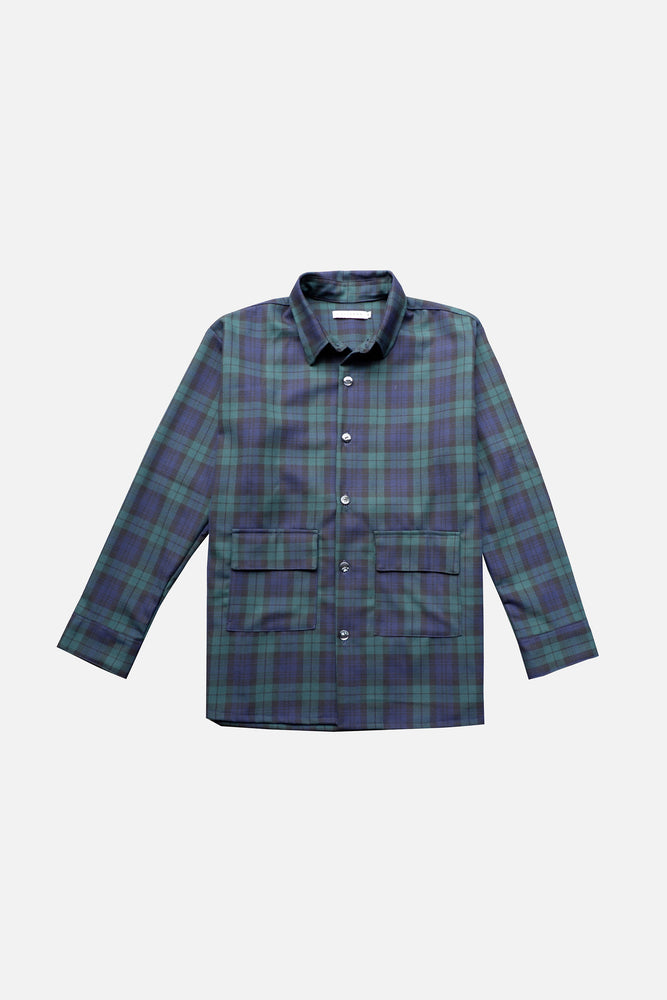 HOVERMEN- Overshirt (Blue/Green Plaid)