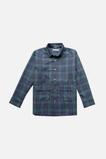 HOVERMEN- Overshirt (Blue/Green Plaid) (4476767305805)
