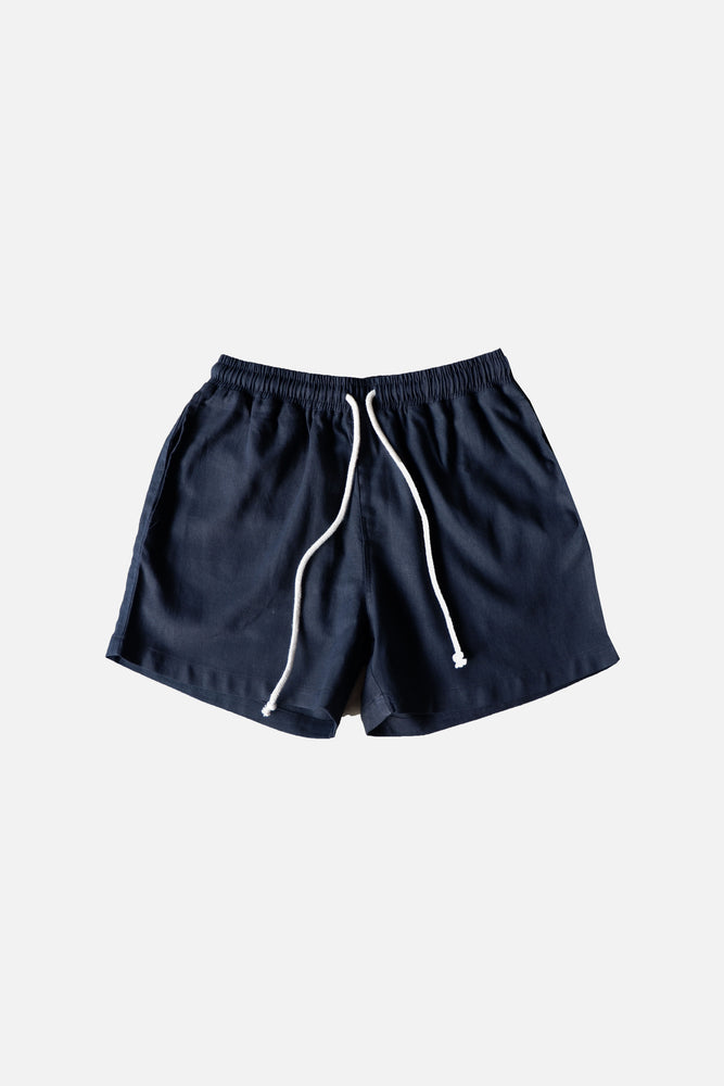 LINEN SHORTS (Midnight Blue) - ILUSTRADOS
