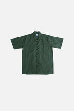 Linen Cotton Cuban Shirt (Olive Green) by HOVERMEN