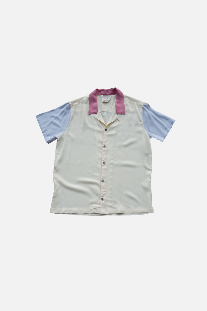 Archie Tri-Color Shirt (Gray-Blush)