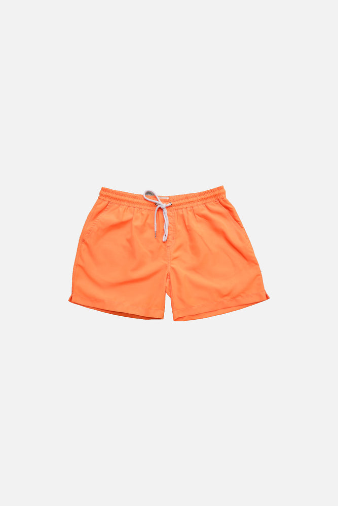 Neon Orange - Deck Swim Shorts by HISTORE