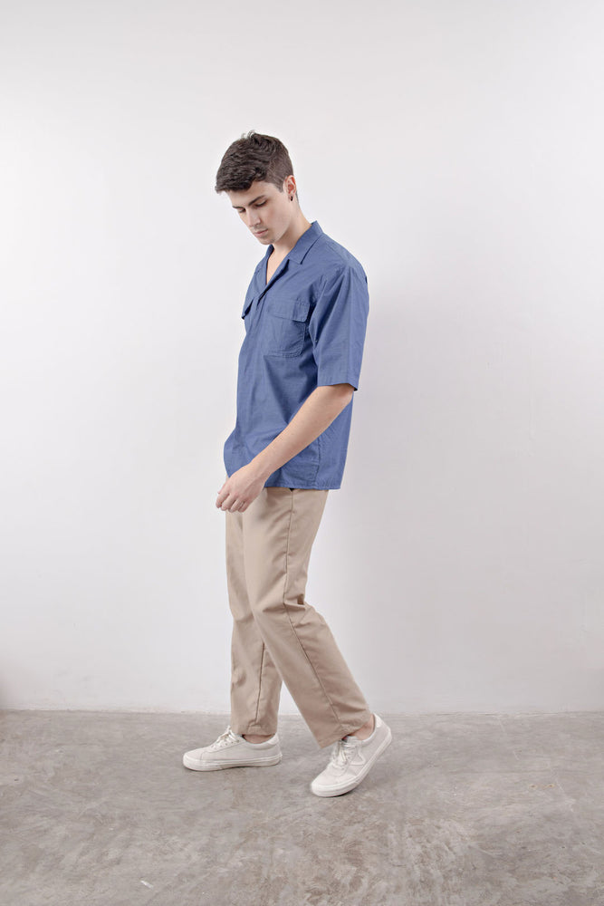 NOTCHED POCKET SHIRT (Blue)