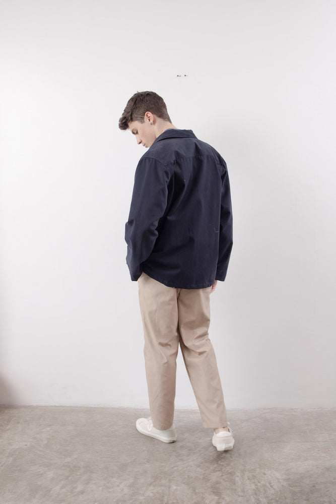 POCKET COACH JACKET (Navy Blue) (3543912546381)