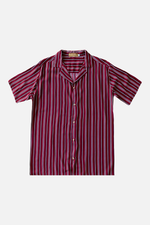 James (Red) - Printed Cuban Shirt by ILUSTRADOS