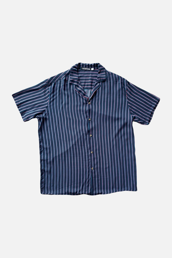 Marco (Blue) - Printed Cuban Shirt by ILUSTRADOS (3541576384589)