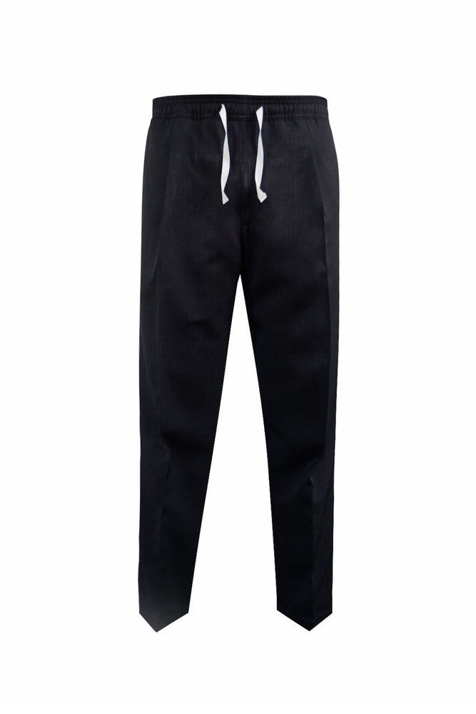 EASY ANKLE PANTS (BLACK)