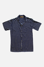 James (Blue) - Printed Cuban Shirt by ILUSTRADOS