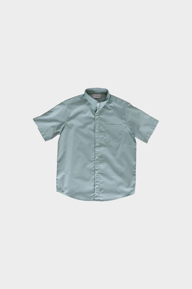 HOVERMEN- Plain Buttondown Shirt (Light Fatigue) (4490102505549)