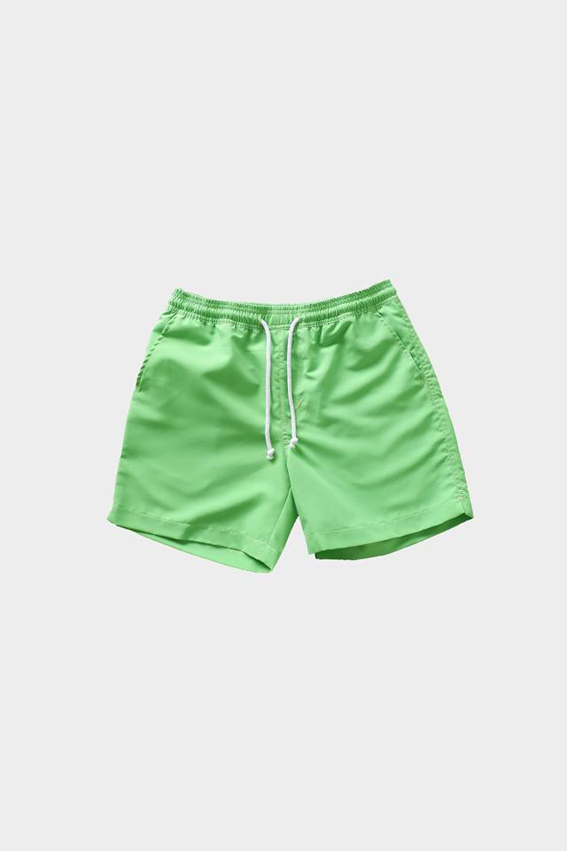 Deck Swim Shorts (Neon Green) by HOVERMEN