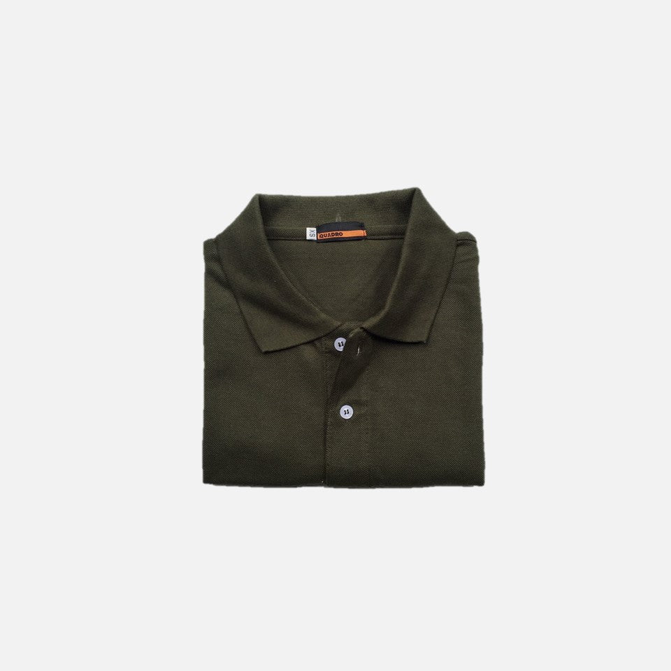 HOVERMEN - Pique Polo Shirt (Fatigue Green)