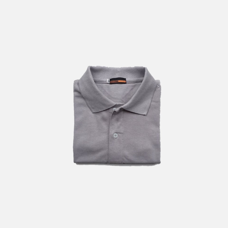 HOVERMEN - Pique Polo Shirt (Heather Gray)