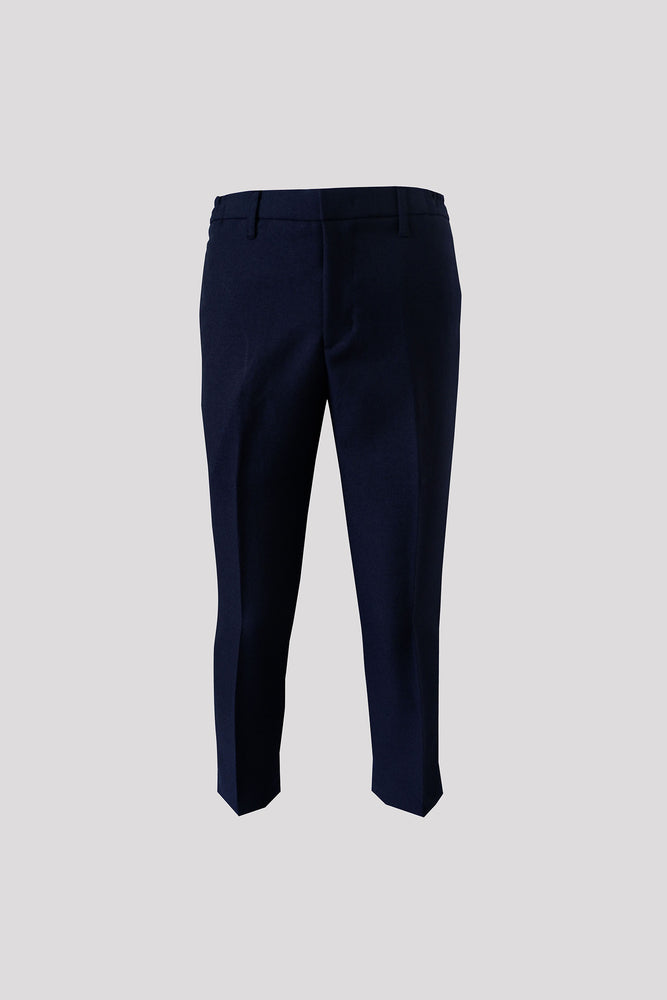 Relaxed Ankle Pants (Navy Blue) by HOVERMEN