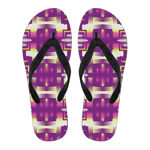 Purple Sunset Sage Men's Flip Flops