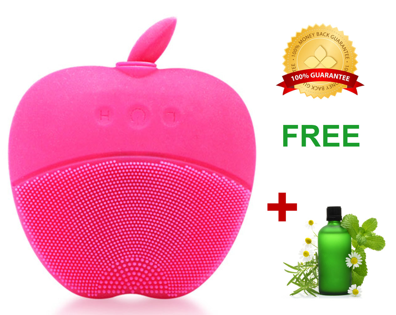 Sonic Peach Facial Cleansing Brush for Healthy Skin - Pink