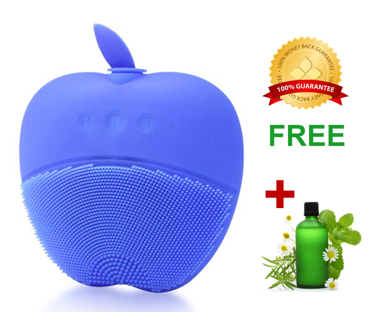 Sonic Peach Facial Cleansing Brush for Healthy Skin - Blue